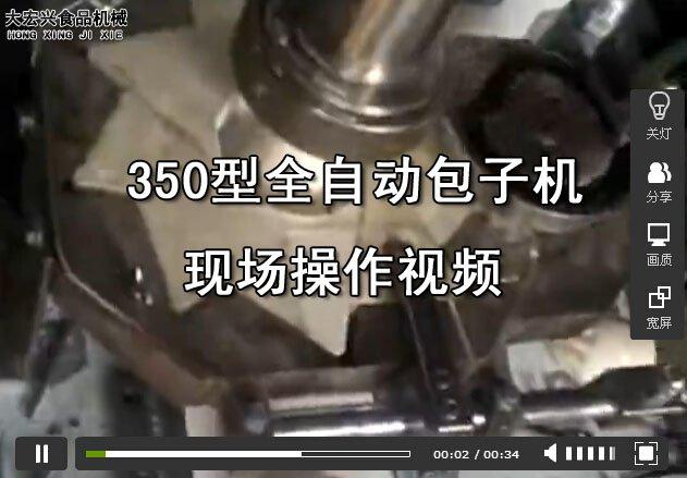 350型大颗粒直供馅包子机视频演示